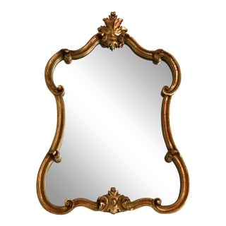 Gold Leaf Carved Mirror For Sale