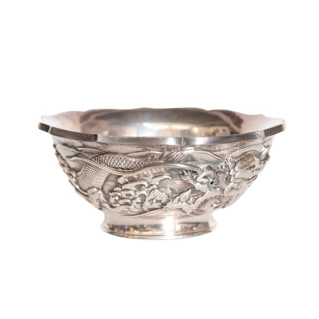 Japanese Silver Bowl For Sale
