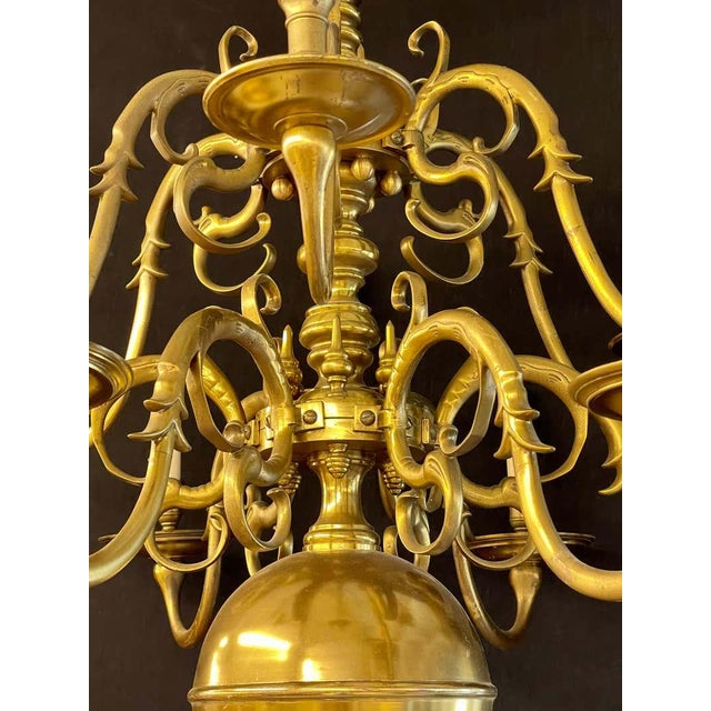19th Century English Georgian Style Bronze Chandelier For Sale In New York - Image 6 of 12