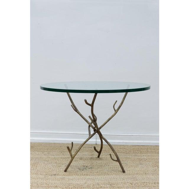 Folk Art Faux Bois Branch Form Cocktail Table For Sale - Image 3 of 8