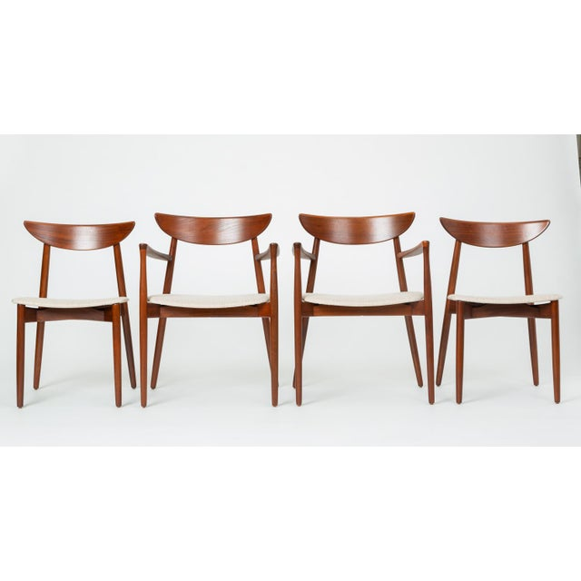 Set of Four Dining Chairs by Harry Østergaard for Randers Møbelfabrik For Sale - Image 13 of 13
