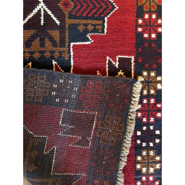 """Persian Tribal Baluch Kazak Runner Rug - 2'5"""" x 9'6"""" For Sale - Image 5 of 6"""