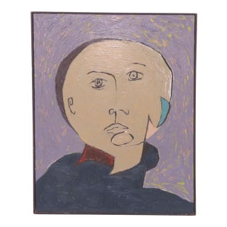Postmodern Dadaist Style Portrait by Steven Dunning For Sale