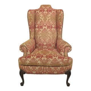 1990s Vintage Taylor King Wing Back Chair For Sale