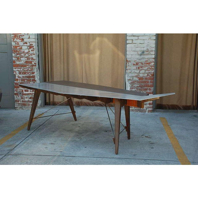 This listing features a one of a kind Industrial Studio Work Table/Desk.