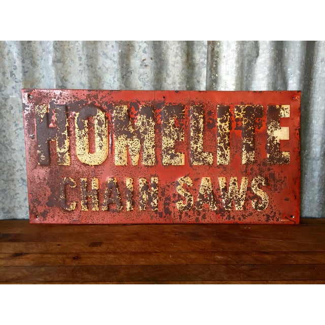 Vintage Chainsaw Advertising Sign - Image 2 of 8