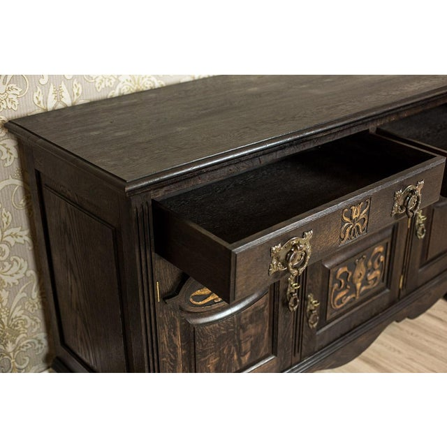 1910 Art Nouveau Oak Commode or Sideboard For Sale - Image 12 of 13