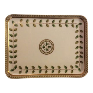 Neoclassical Limoges Porcelain Painted Tray For Sale