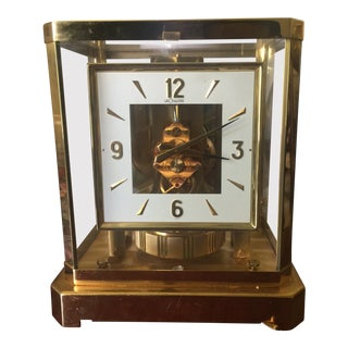 Mid Century Swiss Jaeger-LeCoultre Perpetual Motion Clock