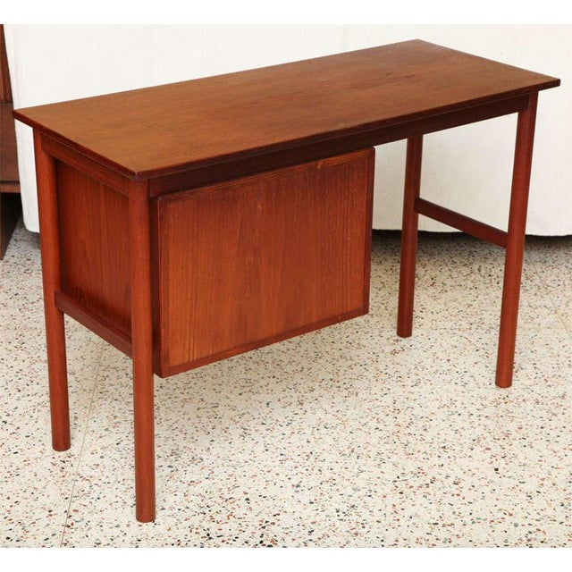 Arne Vodder Arne Vodder 1960s Petite Danish Modern Teak Writing Table Desk For Sale - Image 4 of 10