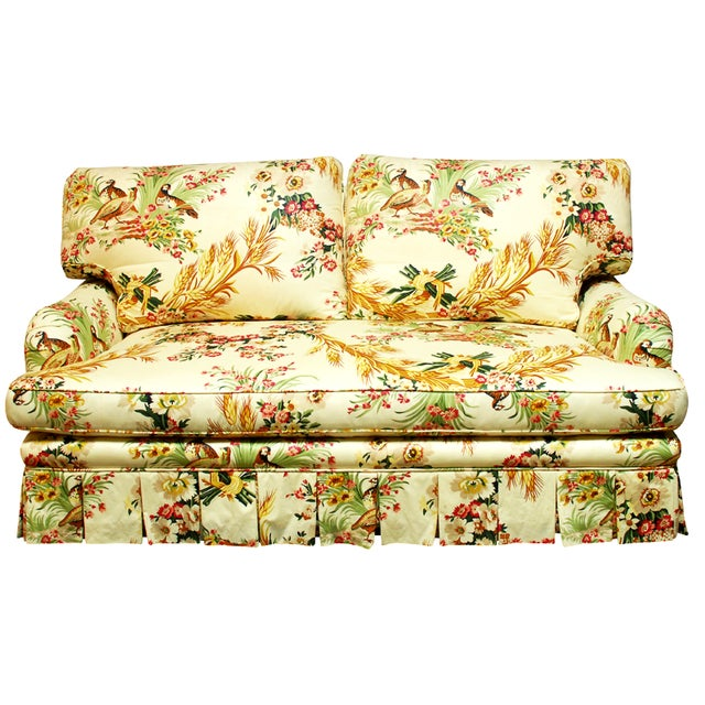 Brunschwig & Fils French Upholstered Toile Sofa For Sale