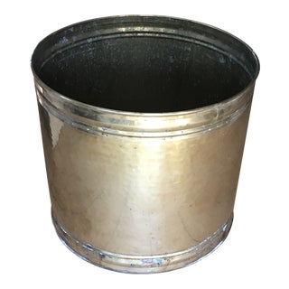 Traditional Brass Tree Planter Bucket For Sale