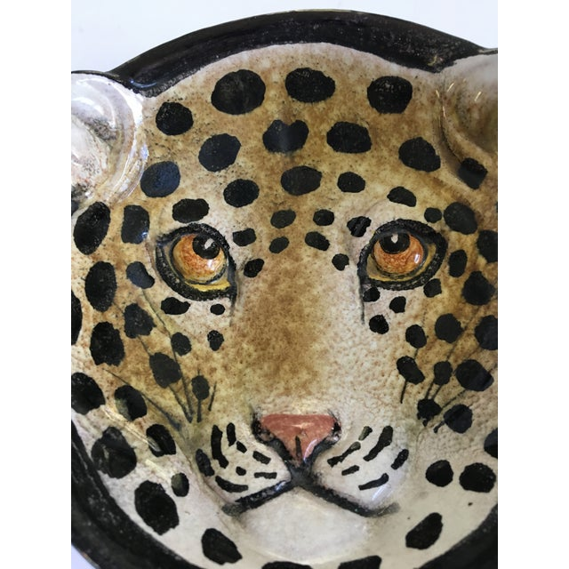 Italian Mid-Century Modern Leopard Pottery Bowl/Catchall For Sale - Image 4 of 10