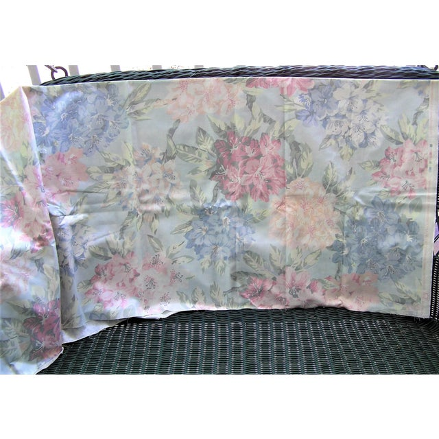 American Vintage Schumacher Waverly Cotton Fabric Flower Show Botanical Collection 2-2/5 Yd For Sale - Image 3 of 6