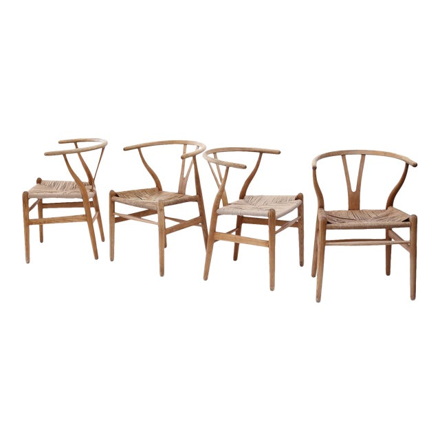 Wishbone Armchairs by Hans Wegner For Sale