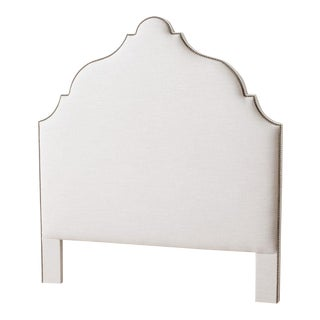 Contemporary Morocco White Queen Headboard