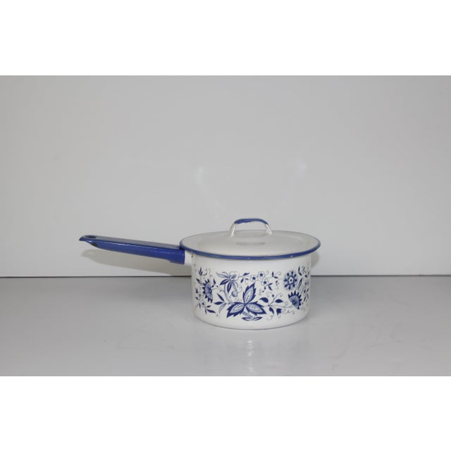 French Enamel Pot - Image 4 of 7