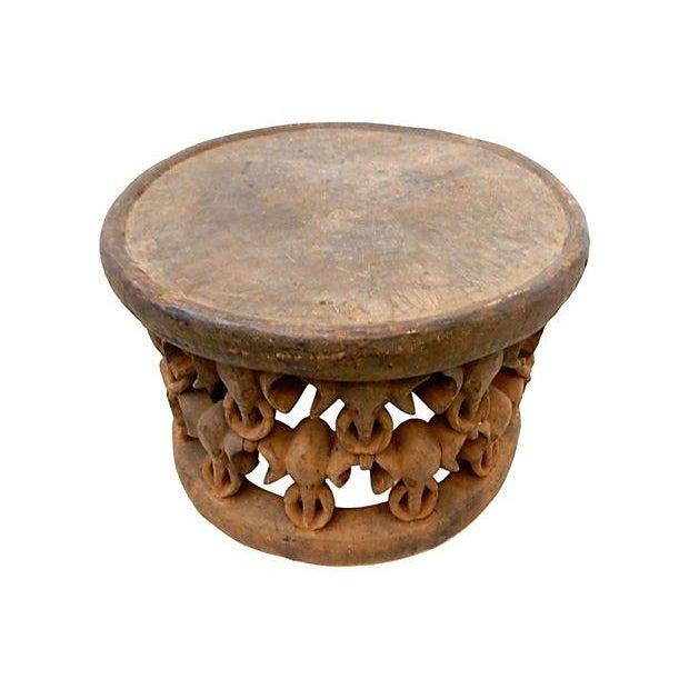African Elephant Bamileke Table Stool - Image 7 of 7