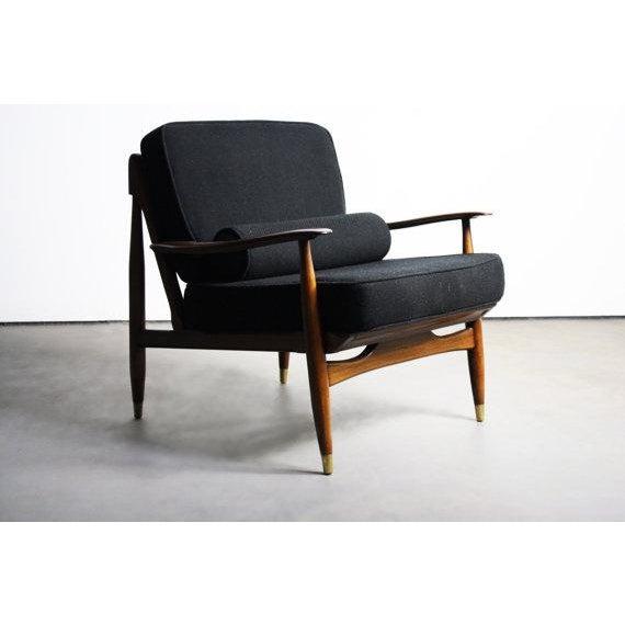 Finn Juhl Attributed Walnut Lounge Chair - Image 2 of 6