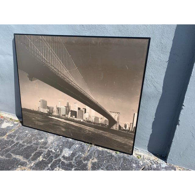 1970s Lower Manhattan Cityscape Photograph, Framed For Sale - Image 4 of 11