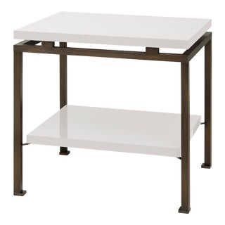 Veere Grenney Collection Portsea Side Table in Slate White For Sale