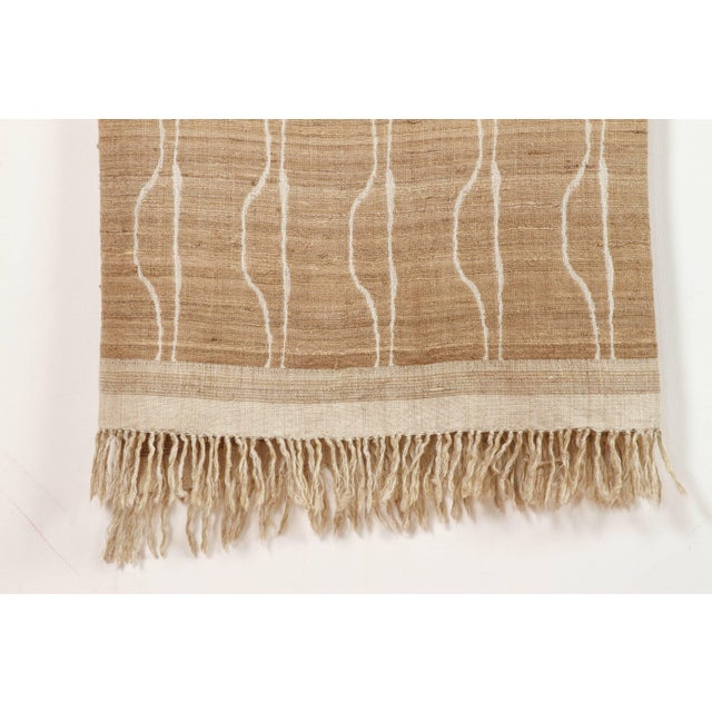 Contemporary Indian Handwoven Throw Vertical Jaal For Sale - Image 3 of 4