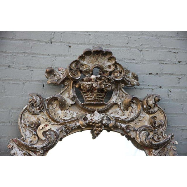 19th C. Italian Gilt Wood Mirror - Image 4 of 5