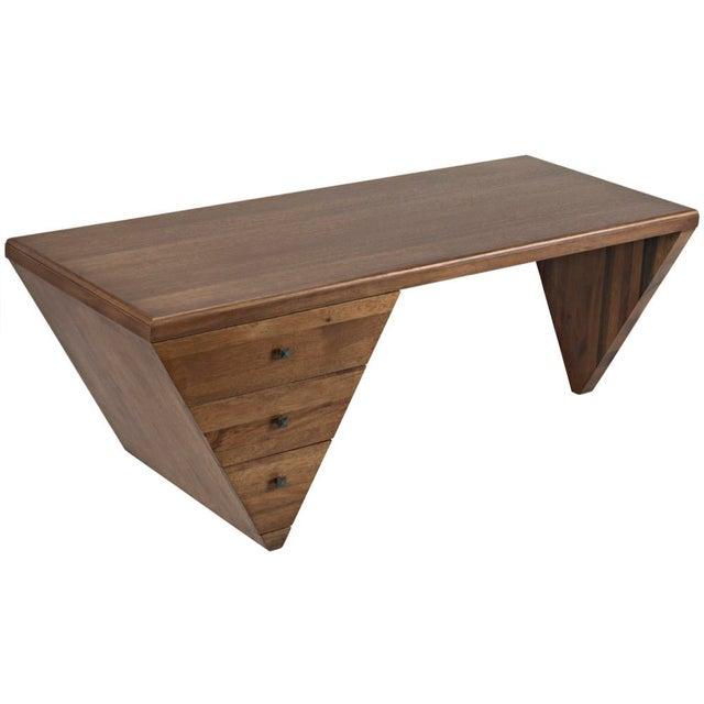 Tetramo Desk, Dark Walnut For Sale - Image 9 of 13