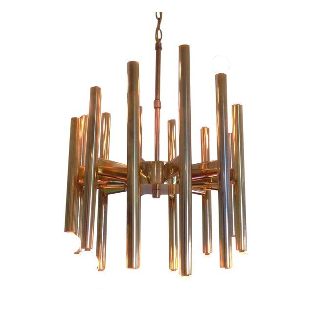 Sciolari Brass Sculptural 24 Lights Chandelier For Sale
