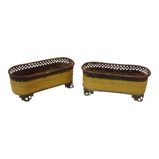 19th Century French Tole Jardinieres - a Pair For Sale