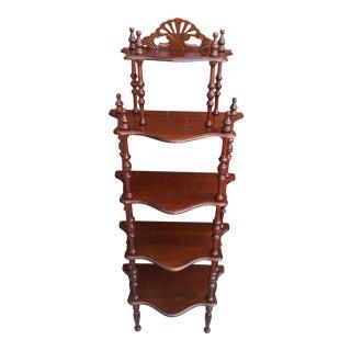 Vintage Victorian Style 5-Tier Shelf For Sale