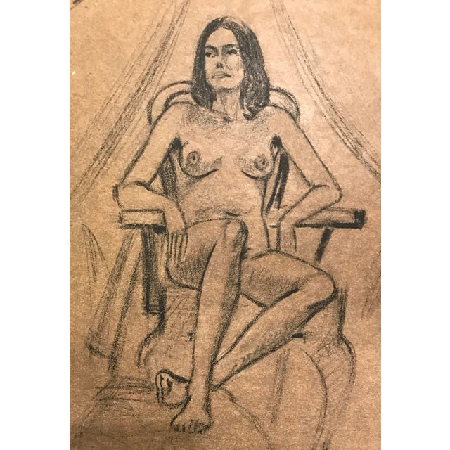 Studio Nude by Washington DC based African American Artist Hilliard Dean (born 1933). The piece was made in the 1970s.