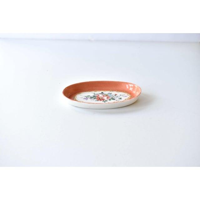 Limoges, France Antique Limoges Hand-Painted Oval Trinket Dish For Sale - Image 4 of 7