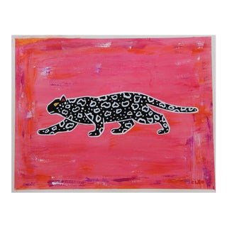 Leopard Abstract Painting by Cleo Plowden For Sale