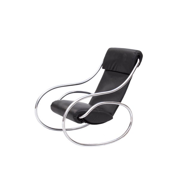 Sculptural Rocking Chair in Tubular Chrome For Sale - Image 11 of 11