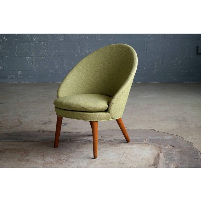 Mid-Century Modern Small Danish Easy Chair Model 301 by Ejvind A. Johansson for Gotfred H. Petersen For Sale - Image 3 of 10