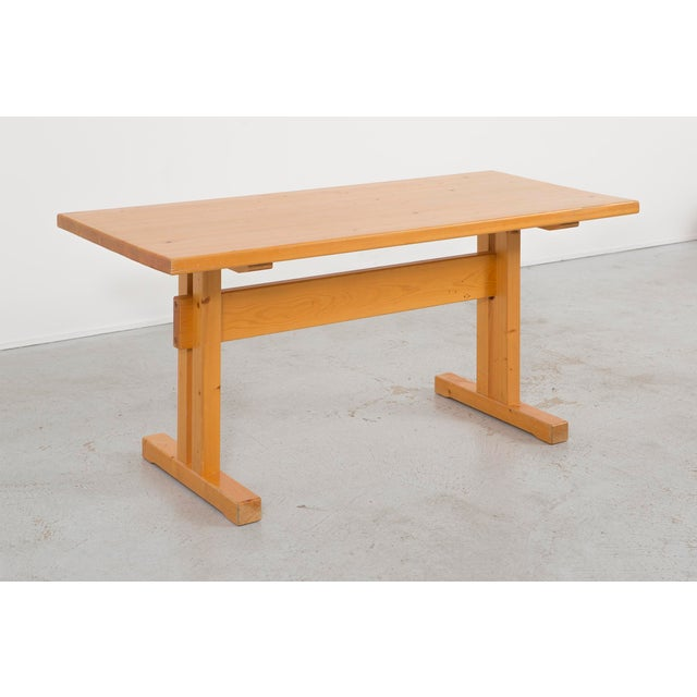 Les Arcs Pine Dining Table by Charlotte Perriand For Sale - Image 9 of 9