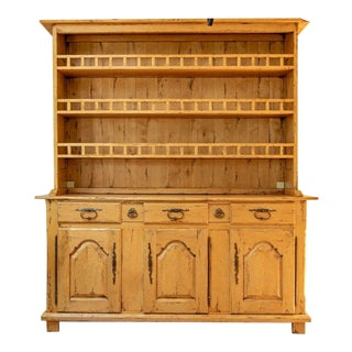 Bausman & Company French Country Buffet With Open Top Hutch For Sale