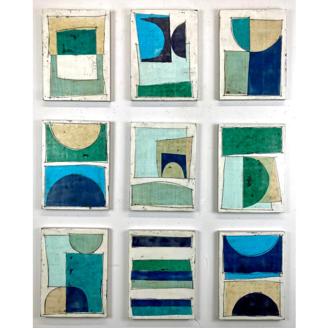 """""""Notes to My Younger Self"""" 9 Panels Encaustic Collage Installation by Gina Cochran For Sale - Image 13 of 13"""