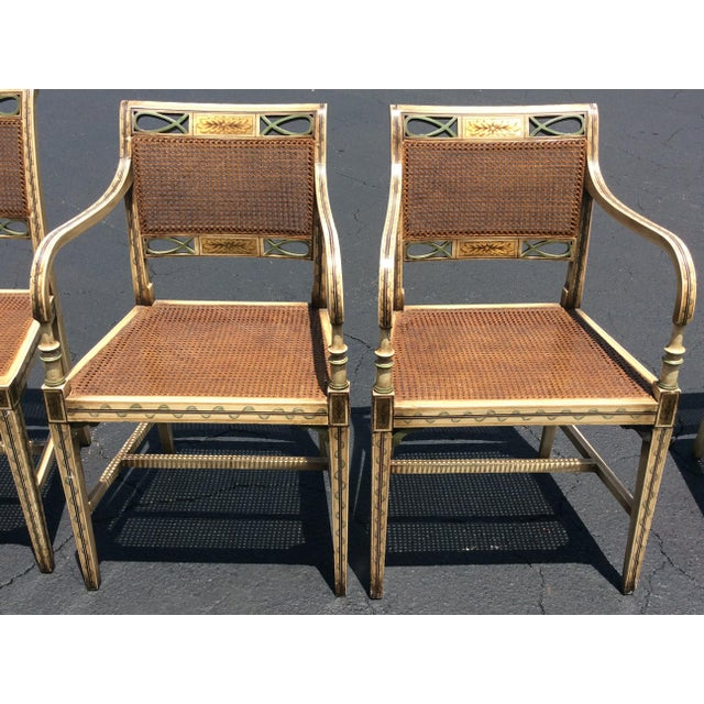 1920s French Country Wicker Dining Chairs - Set of 6 For Sale In Tampa - Image 6 of 13