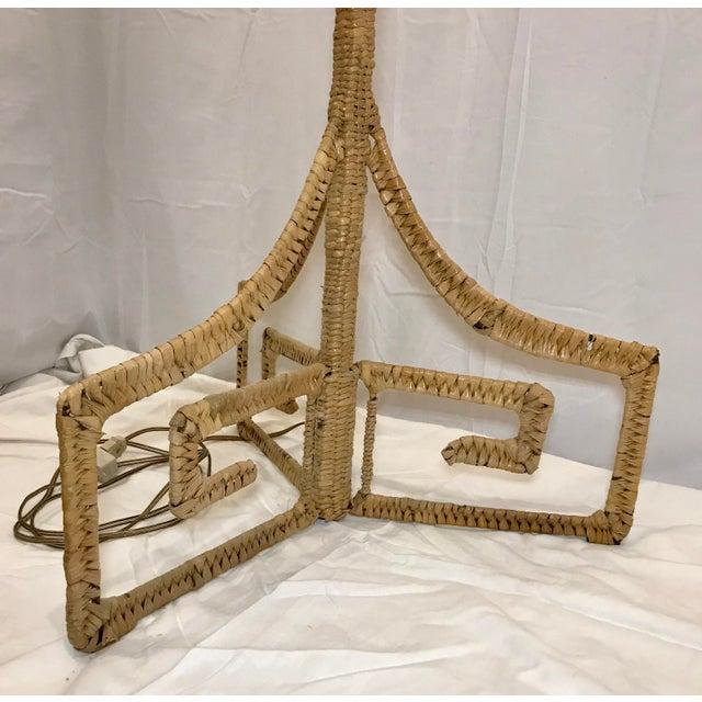1970s Mario Lopez Torres Mid-Century Wicker Monkey Floor Lamp For Sale - Image 9 of 13