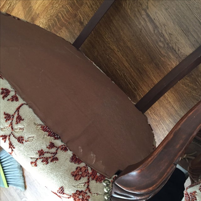 Floral French Provincial Chairs- A Pair - Image 7 of 7
