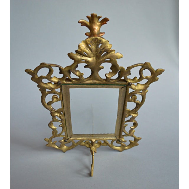 Rococo Style Gilt Brass Photo Frame - Image 3 of 5
