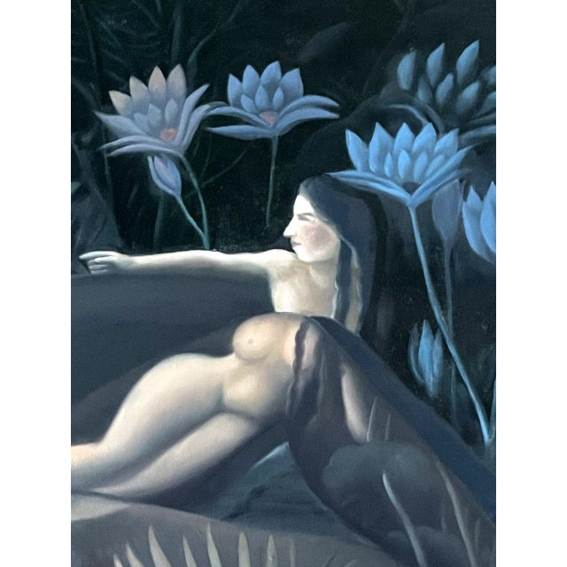 Canvas Oil Painting on Canvas by Yang Qian For Sale - Image 7 of 13