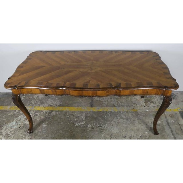 French French Inlaid Walnut Veneered Writing Table, Circa 1900 For Sale - Image 3 of 11
