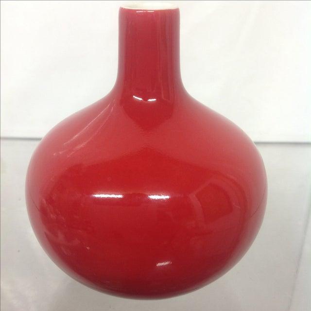Antique Asian Red Glazed Porcelain Vase - Image 5 of 5