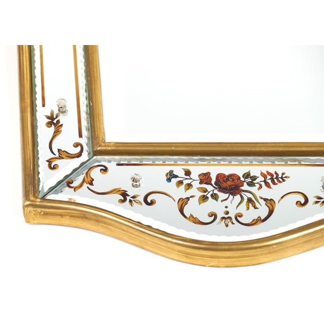 Glass Vintage French Eglomisé Mirror For Sale - Image 7 of 10