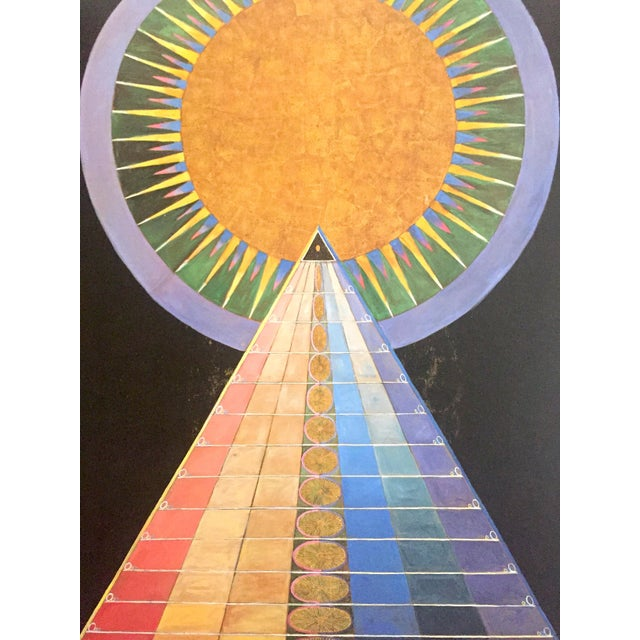 "Lithograph Hilma Af Klint Abstract Lithograph Print Moderna Museet Sweden Exhibition Poster "" Altarpiece No.1 Group X "" 1915 For Sale - Image 7 of 13"
