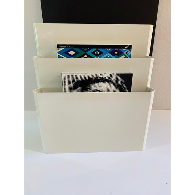 1970s Giotto Stoppino for Kartell Magazine Rack Record Album Holder For Sale In Palm Springs - Image 6 of 9