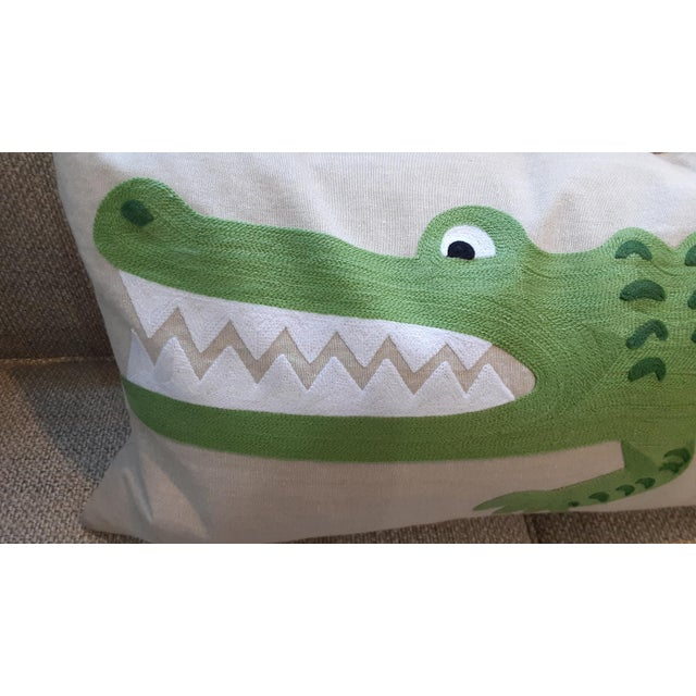 Kenneth Ludwig Chicago Alligator Lumbar Pillow from Kenneth Ludwig Chicago For Sale - Image 4 of 5